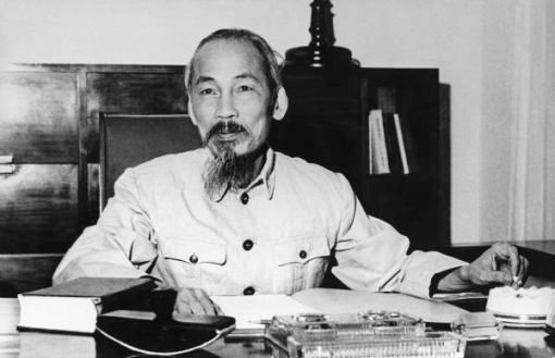 Ho Chi Minh, President Of The Democratic Republic Of North Vietnam Hanoi 1955